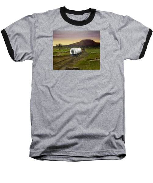 Wagons West Baseball T-Shirt by Sheri Keith