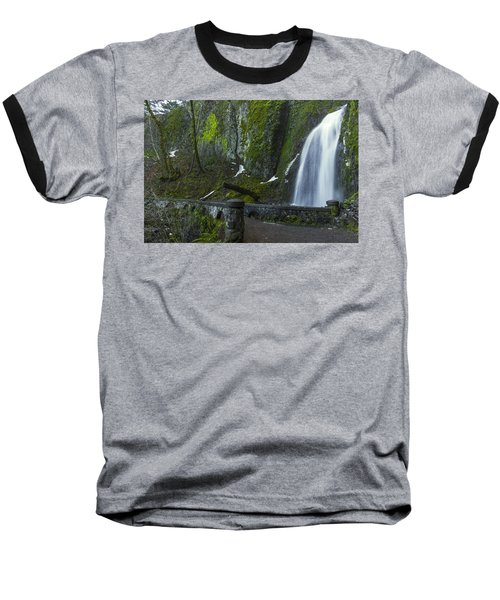 Wahkeena Falls Bridge Baseball T-Shirt