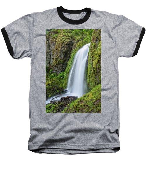 Baseball T-Shirt featuring the photograph Wahkeena Falls by Greg Nyquist