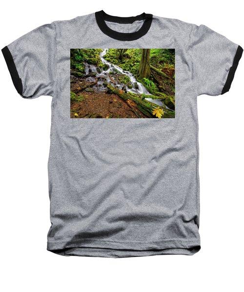 Baseball T-Shirt featuring the photograph Wahkeena Falls by Jonathan Davison