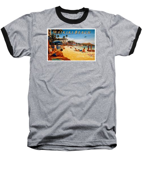 Waikiki Beach Baseball T-Shirt