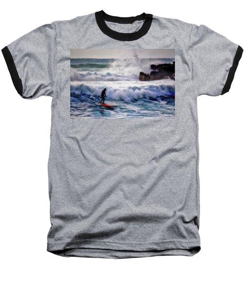 Waimea Bay Surfer Baseball T-Shirt