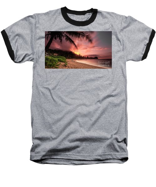 Wainiha Kauai Hawaii Bali Hai Sunset Baseball T-Shirt