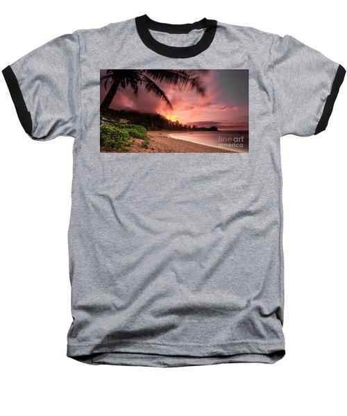 Wainiha Kauai Hawaii Bali Hai Sunset Baseball T-Shirt
