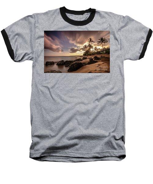 Wainiha Kauai Hawaii Sunrise  Baseball T-Shirt