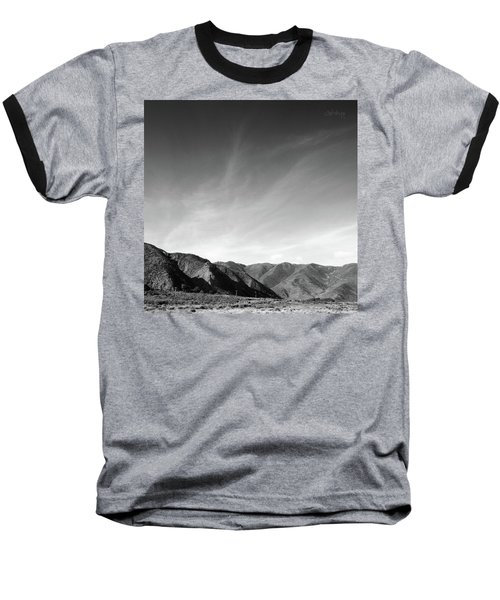 Wainui Hills Squared In Black And White Baseball T-Shirt by Joseph Westrupp