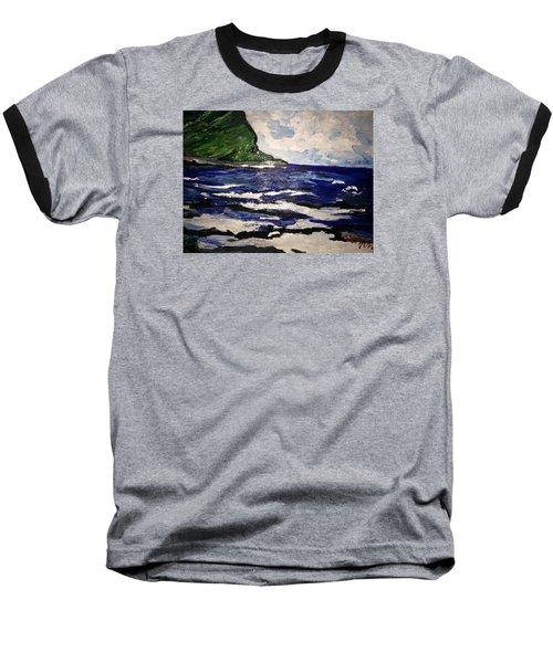 Waipio Valley  Beach Baseball T-Shirt