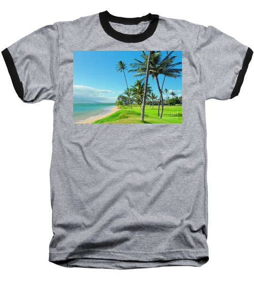 Baseball T-Shirt featuring the photograph Waipuilani Beach Kihei Maui Hawaii by Sharon Mau
