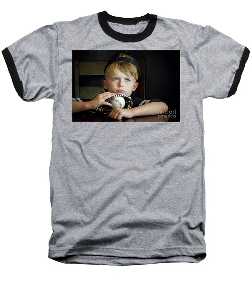 Waiting For Daddy Baseball T-Shirt
