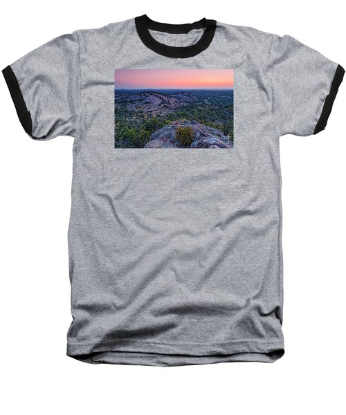 Waiting For Sunrise At Turkey Peak - Enchanted Rock Fredericksburg Texas Hill Country Baseball T-Shirt