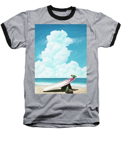 Waiting For Surf Baseball T-Shirt
