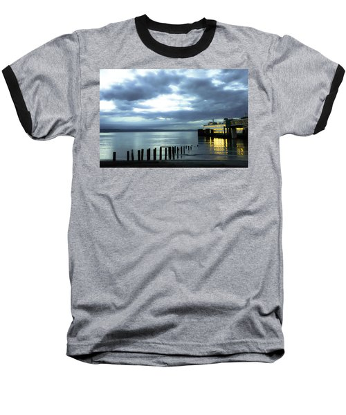 Waiting For The Ferry Baseball T-Shirt by Ronda Broatch