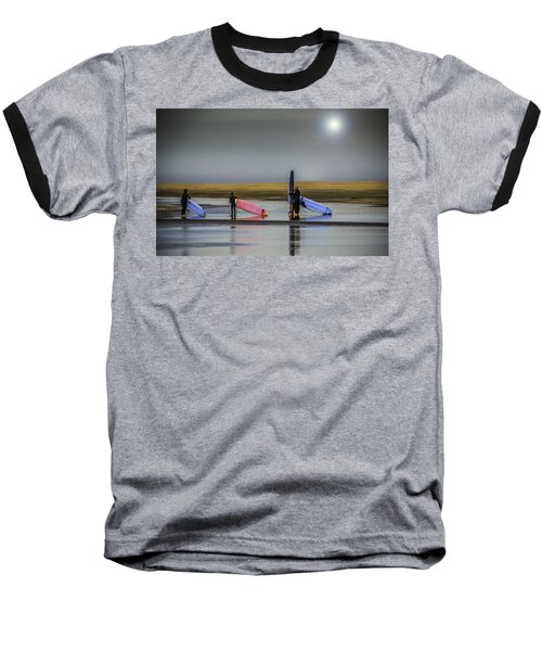 Waiting For The Surf Baseball T-Shirt
