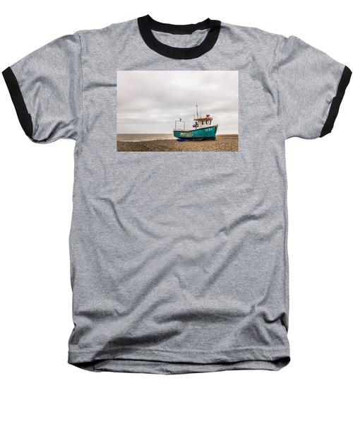 Waiting For The Tide Baseball T-Shirt by David Warrington