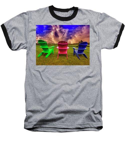 Calm Before The Storm Baseball T-Shirt