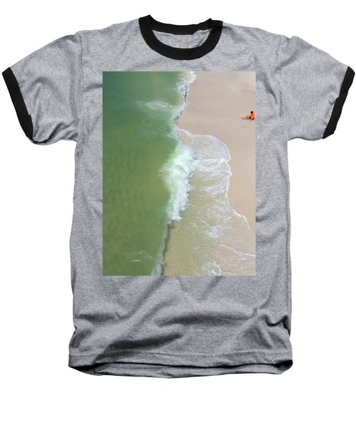 Baseball T-Shirt featuring the photograph Waiting For The Wave by Teresa Schomig