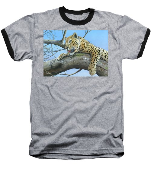Baseball T-Shirt featuring the painting Waiting Game by Mike Brown