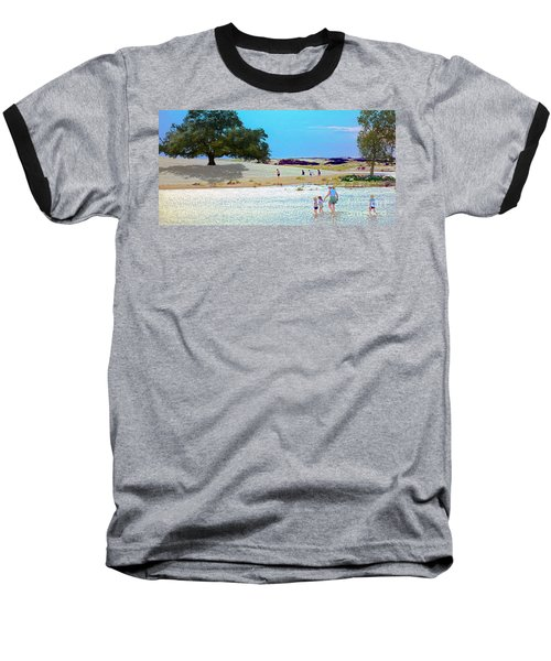 Waiting In The Water Baseball T-Shirt