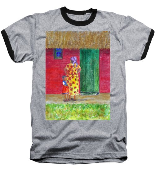 Waiting In Zimbabwe Baseball T-Shirt by Patricia Beebe