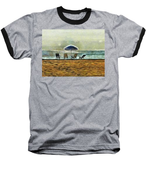 Baseball T-Shirt featuring the mixed media Waiting On High Tide by Trish Tritz