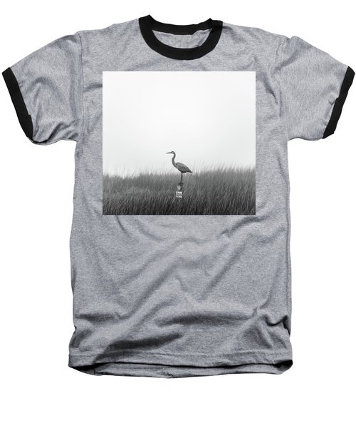 Waiting On The Fog To Clear Baseball T-Shirt
