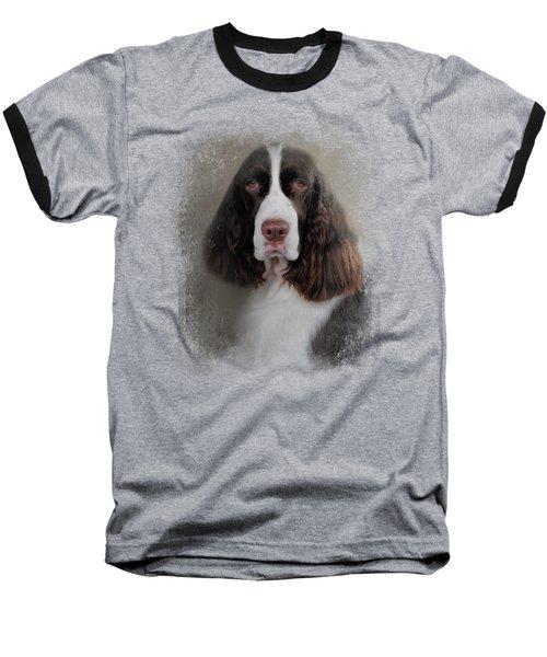 Waiting Patiently - English Springer Spaniel Baseball T-Shirt