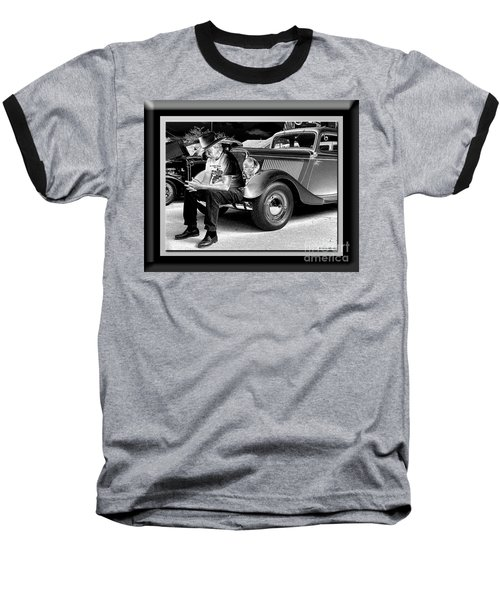 Waiting  Baseball T-Shirt by Sue Stefanowicz