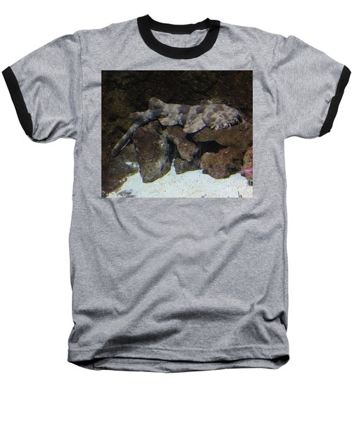 Waiting To Eat You - Spotted Wobbegong Shark Baseball T-Shirt