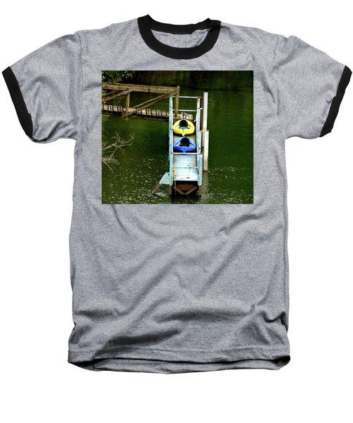 Waiting To Kayak Baseball T-Shirt