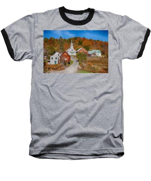 Waits River Church In Autumn Baseball T-Shirt