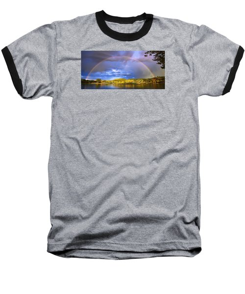 Wake Up Rainbow  Baseball T-Shirt by Kadek Susanto
