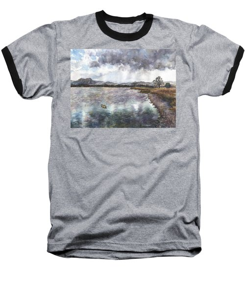 Walden Ponds On An April Evening Baseball T-Shirt by Anne Gifford