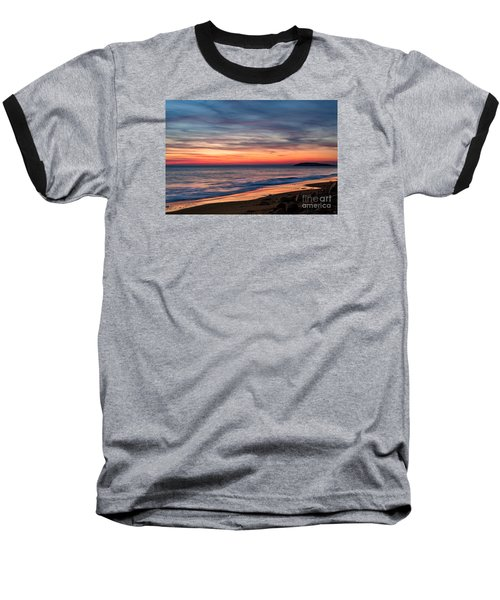 Wales Gower Coast Dusk Baseball T-Shirt