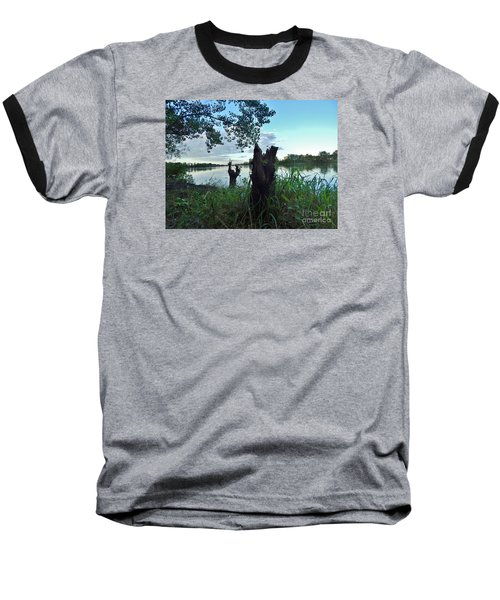 Walk Along The River In Verdun Baseball T-Shirt