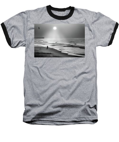 Baseball T-Shirt featuring the photograph Walk Beneath The Moon by Karen Wiles