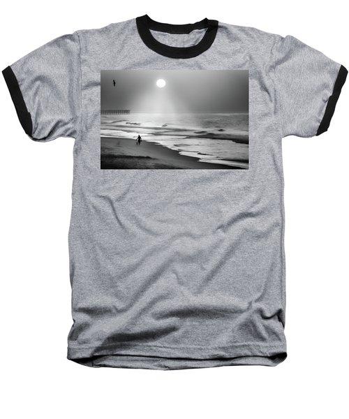 Walk Beneath The Moon Baseball T-Shirt by Karen Wiles