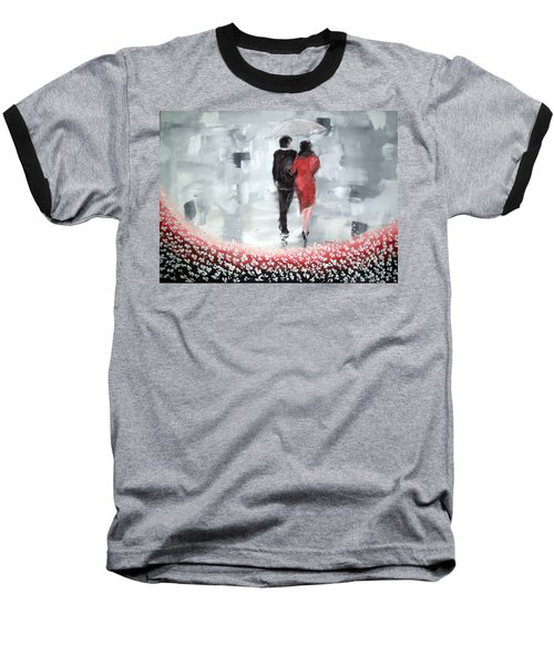Baseball T-Shirt featuring the painting Walk In The Garden by Raymond Doward