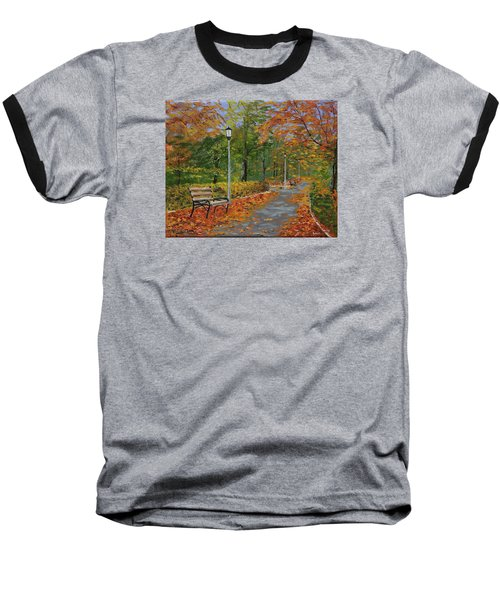Walk In The Park Baseball T-Shirt by Mike Caitham