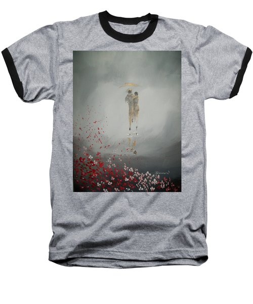 Baseball T-Shirt featuring the painting Walk In The Storm by Raymond Doward