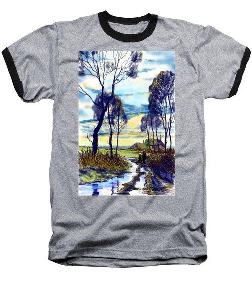 Walk On A Wet Road Baseball T-Shirt