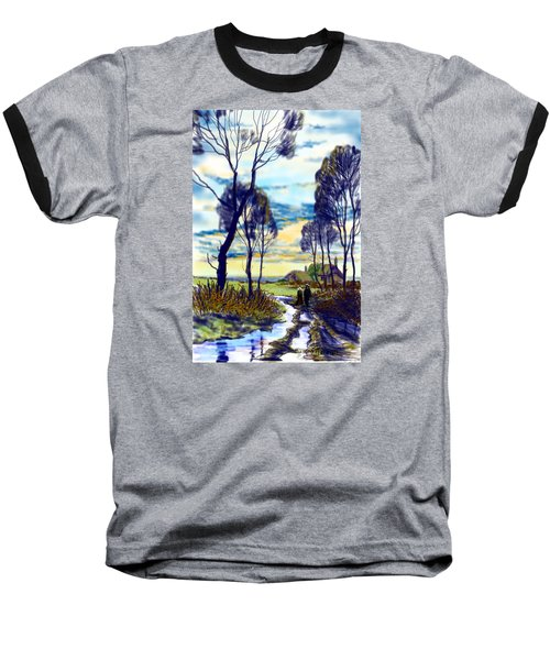 Walk On A Wet Road Baseball T-Shirt