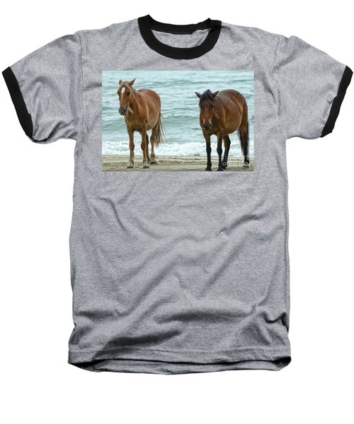 Walk On The Beach Obx Baseball T-Shirt