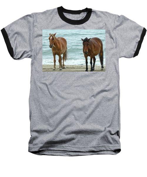 Walk On The Beach Obx Baseball T-Shirt