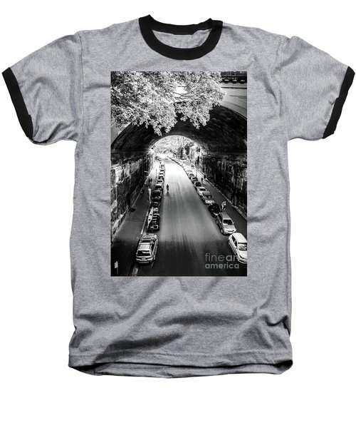 Baseball T-Shirt featuring the photograph Walk The Tunnel by Perry Webster