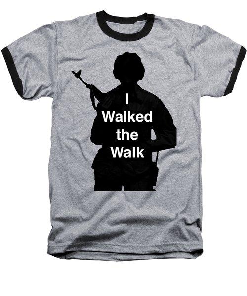Walk The Walk Baseball T-Shirt by Melany Sarafis