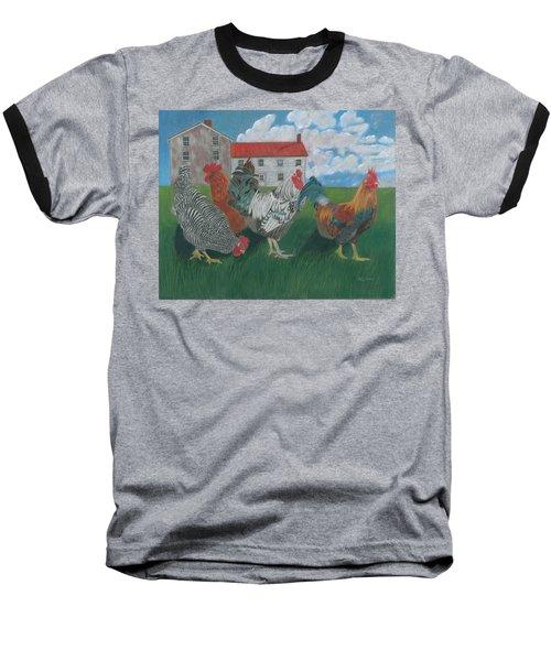 Walk This Way Baseball T-Shirt by Arlene Crafton