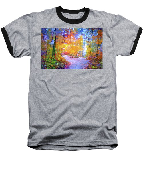 Baseball T-Shirt featuring the digital art Walk With Me by Tara Turner