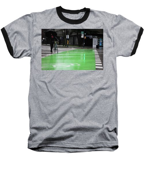 Walk With Wheels  Baseball T-Shirt by Empty Wall