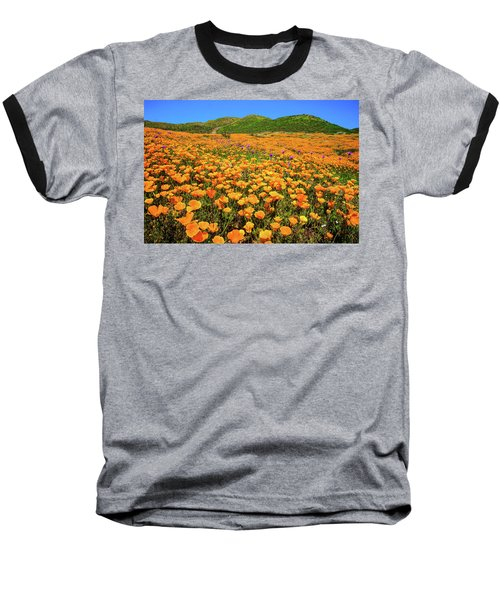 Walker Canyon Wildflowers Baseball T-Shirt by Lynn Bauer