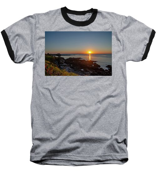 Walkers Point - Sunrise In Kennebunkport Maine Baseball T-Shirt